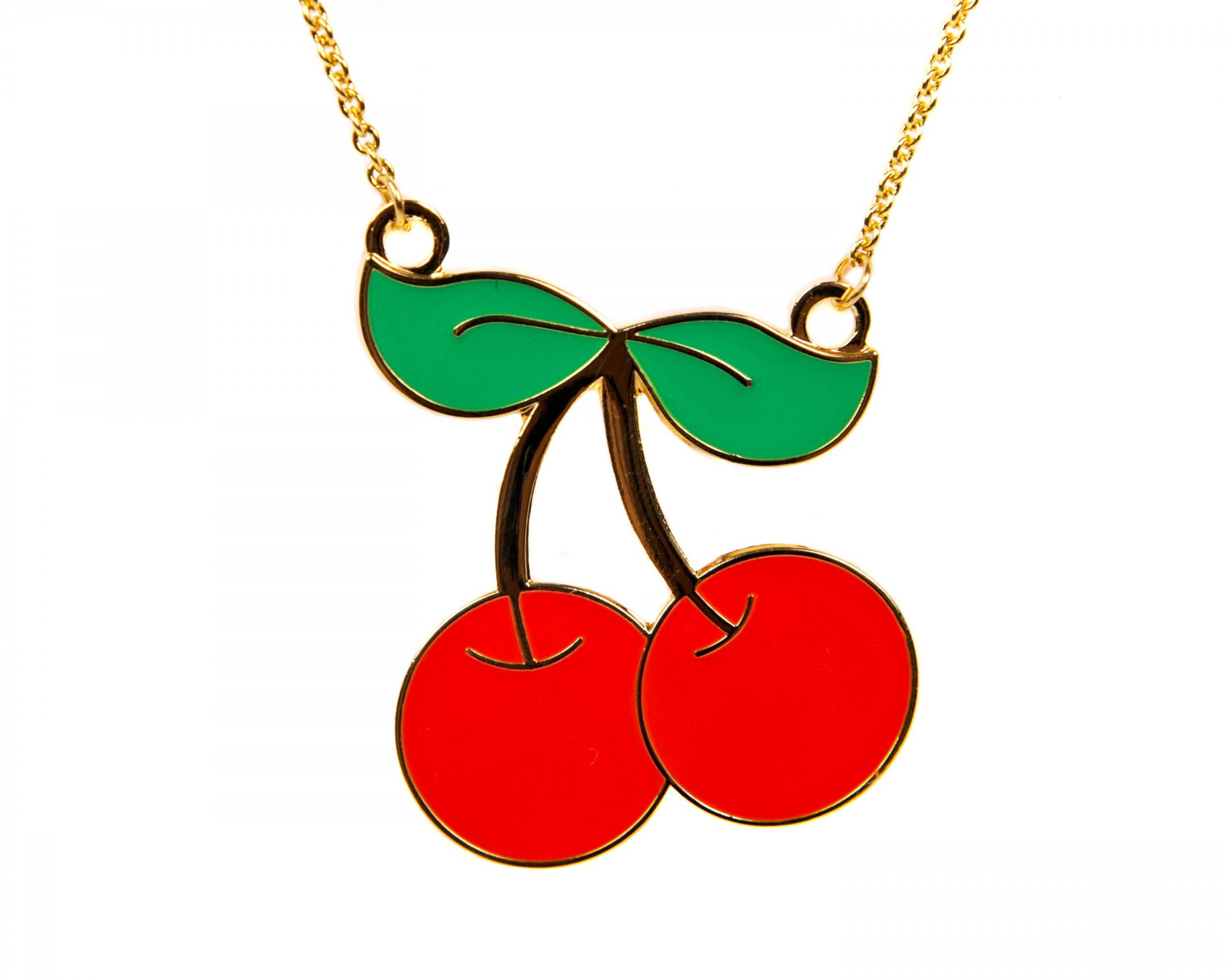 Cherry Necklace - By Acorn   Will - Pinks   Green a7f451073b6c