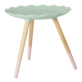Pastel Green Wooden Side Table