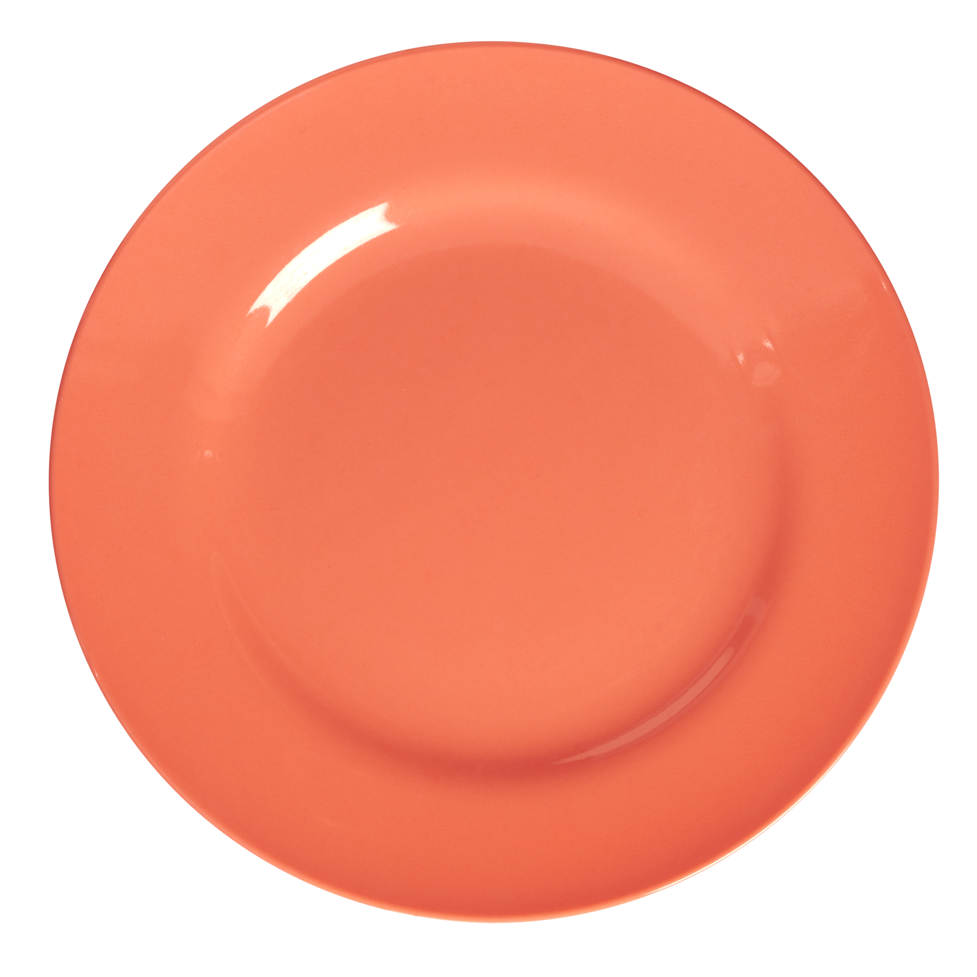 Neon Pastel Orange Melamine Dinner Plate By Rice Dk