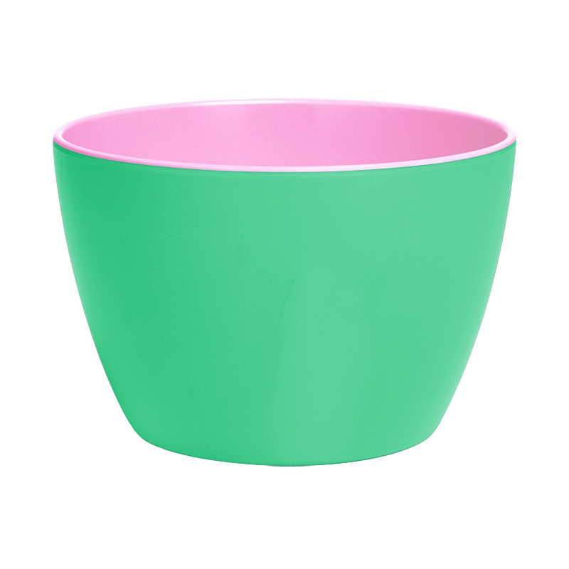 Contrast Colour Deep Melamine Bowl Pink Turquoise By