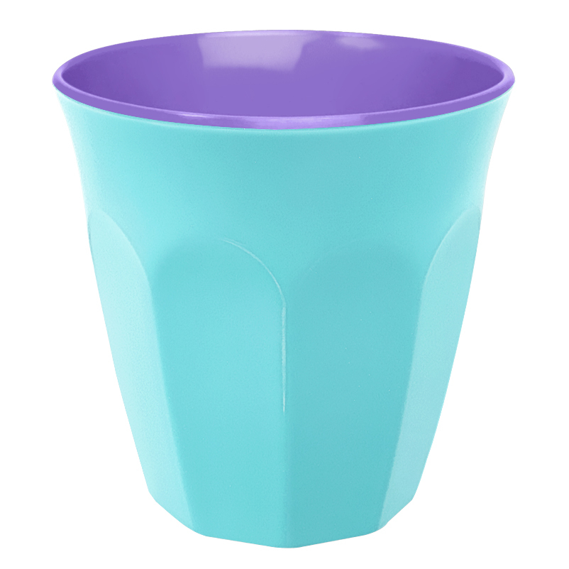 Contrast Colour Melamine Cup Hot Pink Blue By Ginger