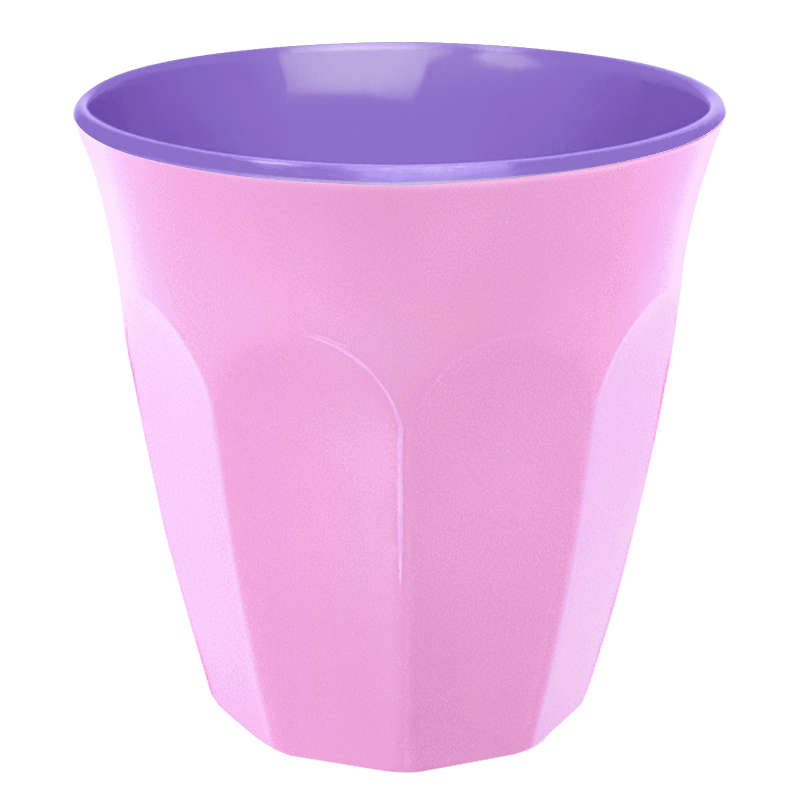 Contrast Colour Melamine Cup Pink Purple By Ginger