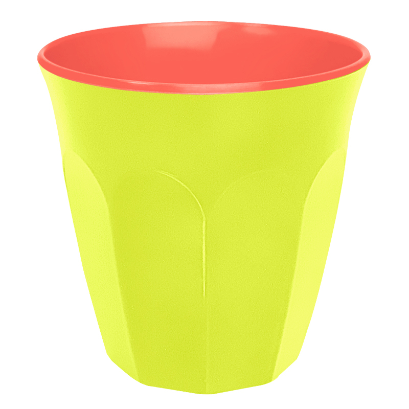 Contrast Colour Melamine Cup Yellow Orange By Ginger