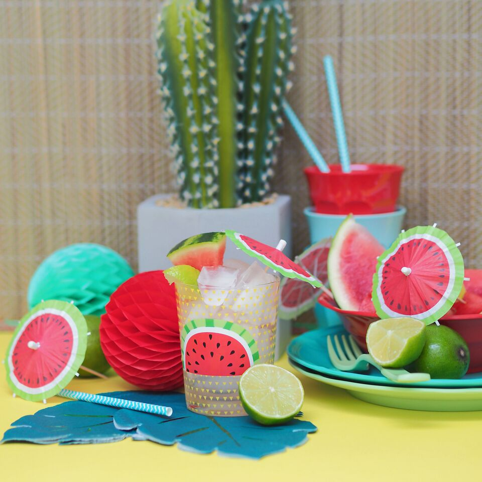 Drinks Tumbler Watermelon By Sunnylife Pinks Amp Green