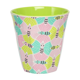 in bloom bee print cup