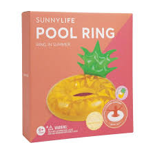 inflatable pineapple pool ring box