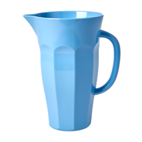 large blue melamine jug