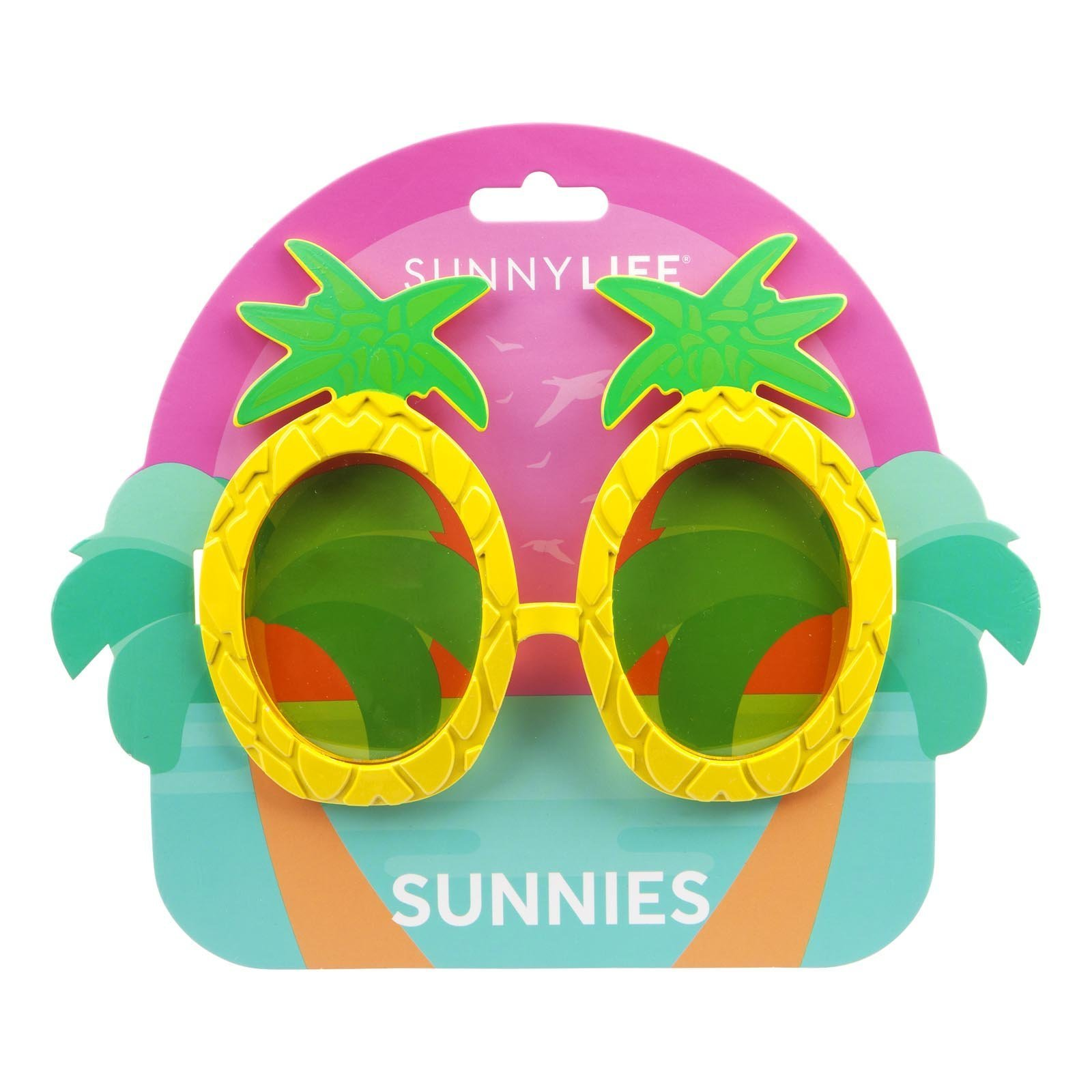1d9ea4343ff Funky Sunglasses - Pineapple - By Sunnylife - Pinks   Green