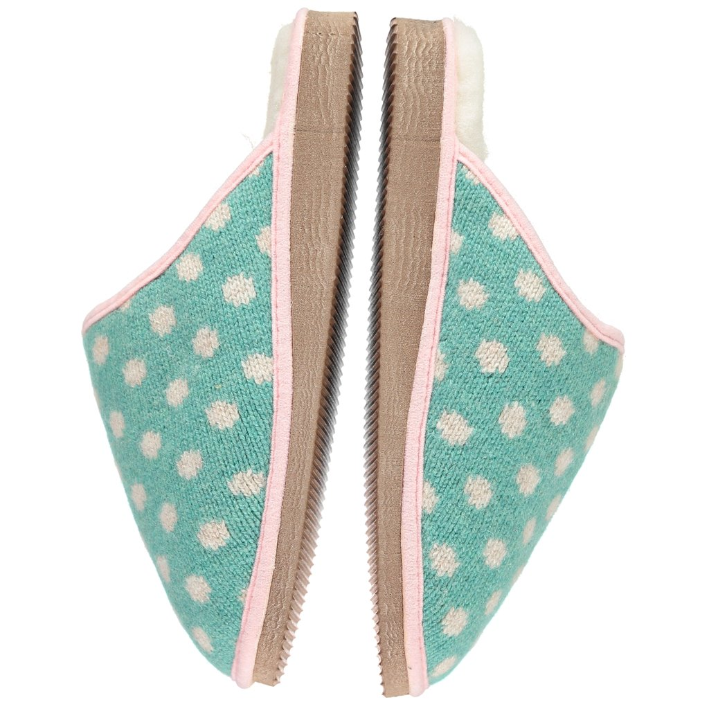 7fa638f73db6 Green Dot Lambswool   Sheepskin Slippers - By Catherine Tough ...